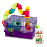 Jaula Hamster Tubos + Alimento