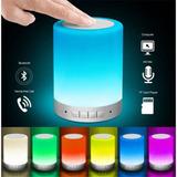 Parlante Bluetooth Touch Luz Ritmica 3w Usb Microsd Auxiliar
