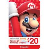 Nintendo Eshop Gift Card $20 / Switch 3ds Wii U