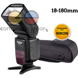 Vivitar Flash Compatible Con Nikon Modelos I-ttl 18-180mm