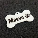 Placa De Identificación De Mascota Perro En Acero Inoxidable