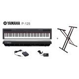 Yamaha P-125 88 Teclas Piano Graduado + Pedestal + Adaptador