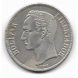 Venezuela, Antigua Moneda De Plata, Un Fuerte 1936
