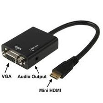 Mini Hdmi A Vga Cable Transformador Adaptador 100% Efectivo