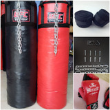 Saco De Box 100cm+guantes Ufc+vendas+soporte Para Colgar