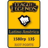 Tarjeta De Recarga De League Of Legends - 1580 Riot Points