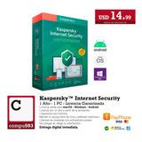 Antivirus Mac - Windows - Andorid - Kaspersky Kis 2020