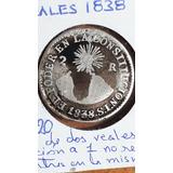 Moneda Antigua, 2 Reales, 1838, S.t, Ecuador, Predecimal, F