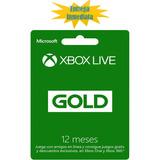 Xbox Live Gold Membresía 12 Meses Multiregión