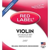 Cuerdas Violín Red Label 4/4 Set Supersensitive
