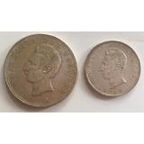 Juego De Ecuador Serie De 2 Monedas De Sucre 1943-1944