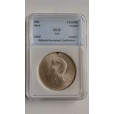 Moneda Certificada Nnc Ms 65! Cinco Sucres 1943 - Ecuador
