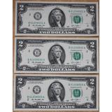 Billetes Mundiales Usa Estados Unidos 3 Dos Dolares 2013 2 D