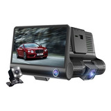 Cámara Dvr Grabador Para Auto Triple Camaras 3 In 1 G Sensor