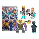 Lego Avenger End Game Set 4/1 Thanos Spiderman Iron Man Thor