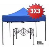 Carpa 3x3 Para Feria Garage Playa Impermeable Con Factura