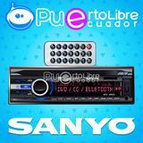 = Sanyo = Radio De Auto Sd U S B Fm Mp3 Bluetooth + D V D !!