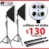 Kit De Fotografía Y Video Softbox Luz Continua 4 Sockets