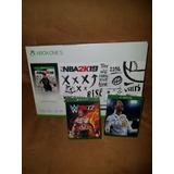 Xbox One S 4k 1tb Nba 2k19 Nuevo+ 2 Juegos Fisico Adicionale