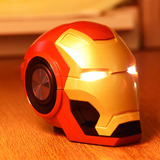 Parlante Speaker Iron Man Con Bluetooth Fm Sd Aux Luz Led