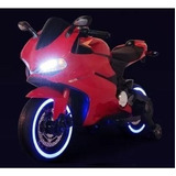Moto Para Niños A Bateria Bluetooth Usb Led Ducati