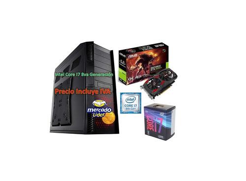 Cpu Computado Gamer Intel Core I7 8va Gen 2tb 16gb Gtx1050ti