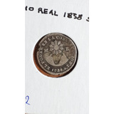 Moneda Antigua, 1/2 Real, 1838, St, Ecuador, Predecimal, Vf
