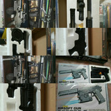 Airsoft Gun Model Bbs 6mm Utileria Disfraz Cosplay Arm Laser