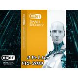 Eset Smart Security Premiun  Para 3 Pc, 1 Año