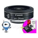 Lente Canon Ef-s 24mm 2.8 Stm - Profesional + R E G A L O !!