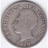 Moneda Decimal Ecuador! Dos Sucres 1928 - Phila- Usa