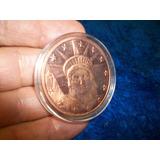 Eeuu, Una Onza En Cobre Ley 0,999 Medalla Lyberty