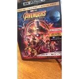 Avengers Infinity War 4k Y Bluray Original Nuevo Sellado