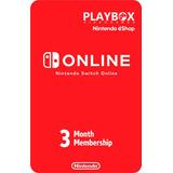 Nintendo Switch Online Membresía Individual 3 Meses Usa