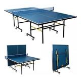 Mesa De Ping Pong Plegable Incluye Raquetas Pelotas Net