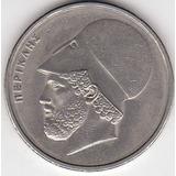Grecia, Antigua Moneda De Nickel 20 Dragmas 1.986
