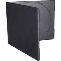 Estuche Plástico Doble Cd/dvd. Negro 7mm Slim X 75 Unidades.