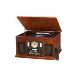 Toca Discos Victrola 8 X 1 Cassette Bluetooth Radio Graba Cd