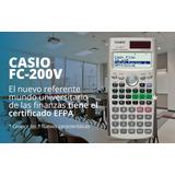 Calculadora Casio Fc-200v Financiera, Cash Flow, Etc.