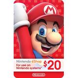 Tarjetas Nintendo Eshop $20