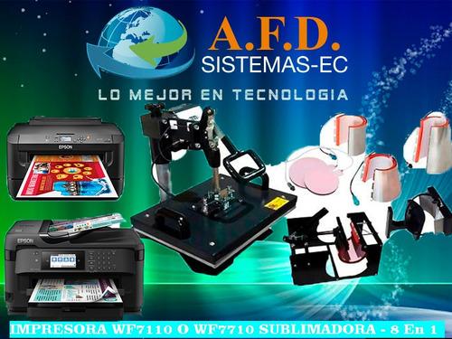 Impresora A3 Sublimadora 8en1 Gorras Camisetas Platos Jarros