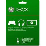 Código Digital 1 Mes Xbox Live  Gold  Xbox One Envío Rápido