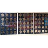Album Con Monedas De 25 Centavos 50 Estados Y 6 Colonias