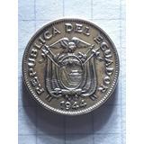 Moneda Antigua-5 Centavos-1944-amarilla-ecuatoriana