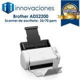 Escáner Documentos Brother Ads2200 Doble Cara 35/70 Ppm