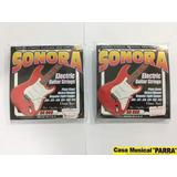 Cuerdas De Guitarra Electrica Sonora + Vitela