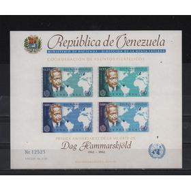 Venezuela Hojita Souvenir Dag Hammarskjold Premio Nobel