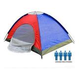 Carpa De Camping Color Para 4 Personas Impermeable Reforzada