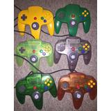 Palancas Control Joystick Nintendo 64 Colores