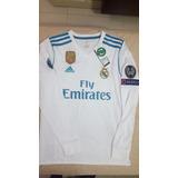 Real Madrid Camiseta Manga Larga 2017-2018, adidas Original